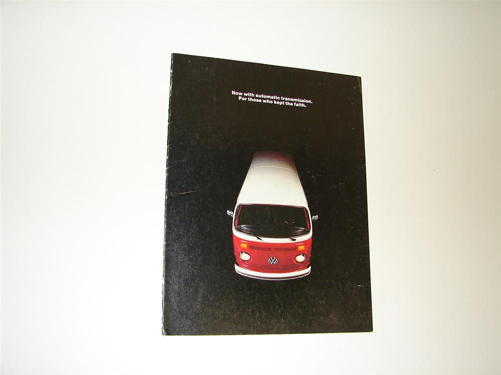 Seldom seen N.O.S. 8 page color sales brochure for the 1973 Volkswagen Station Wagon Automatic. - Front 3/4 - 91368