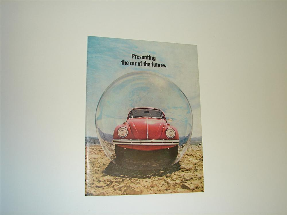 Unsurpassable N.O.S. 1970 Volkswagen Bug Sedan and Convertible 16 page color sales brochure. - Front 3/4 - 91369