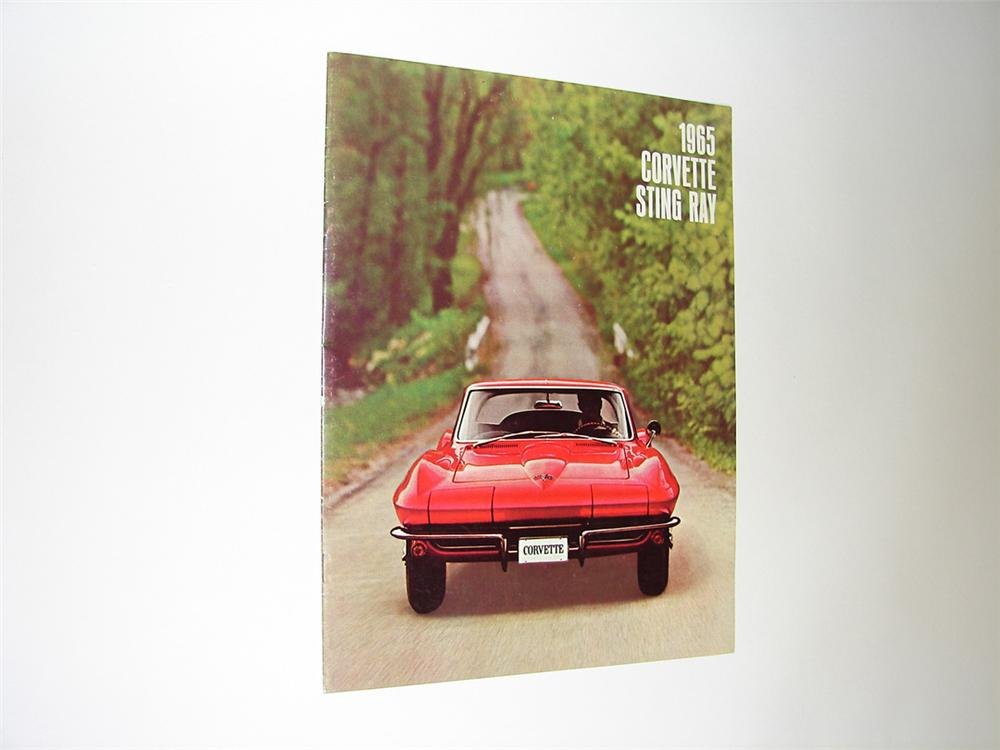 Gorgeous N.O.S. 1965 Corvette Sting Ray 16 page color sales brochure. - Front 3/4 - 91437