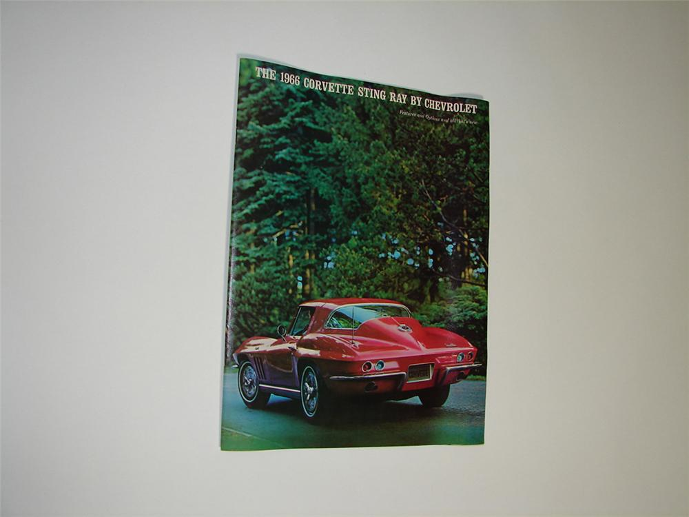 Awesome N.O.S. 1966 Corvette Sting Ray 16 page color sales brochure. - Front 3/4 - 91438