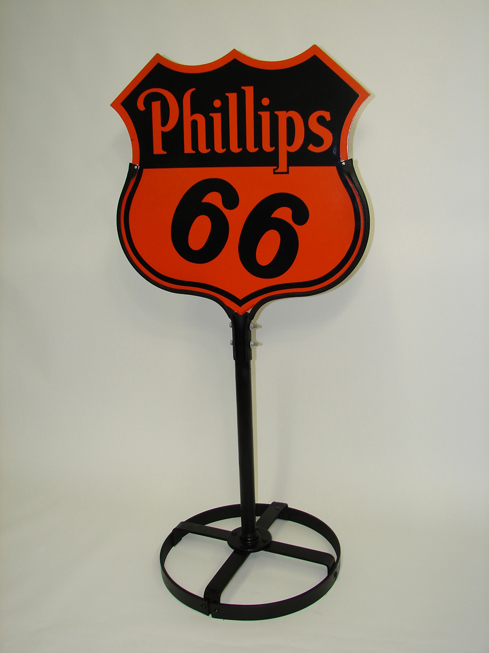 Near Perfect 1945 1930s Phillips 66 Doublel Sided Porcelain S