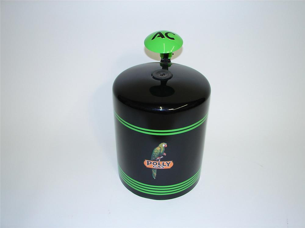 Exceptional 1930s AC Spark Plugs counter-top cleaner restored in Polly Gas regalia. - Front 3/4 - 91472