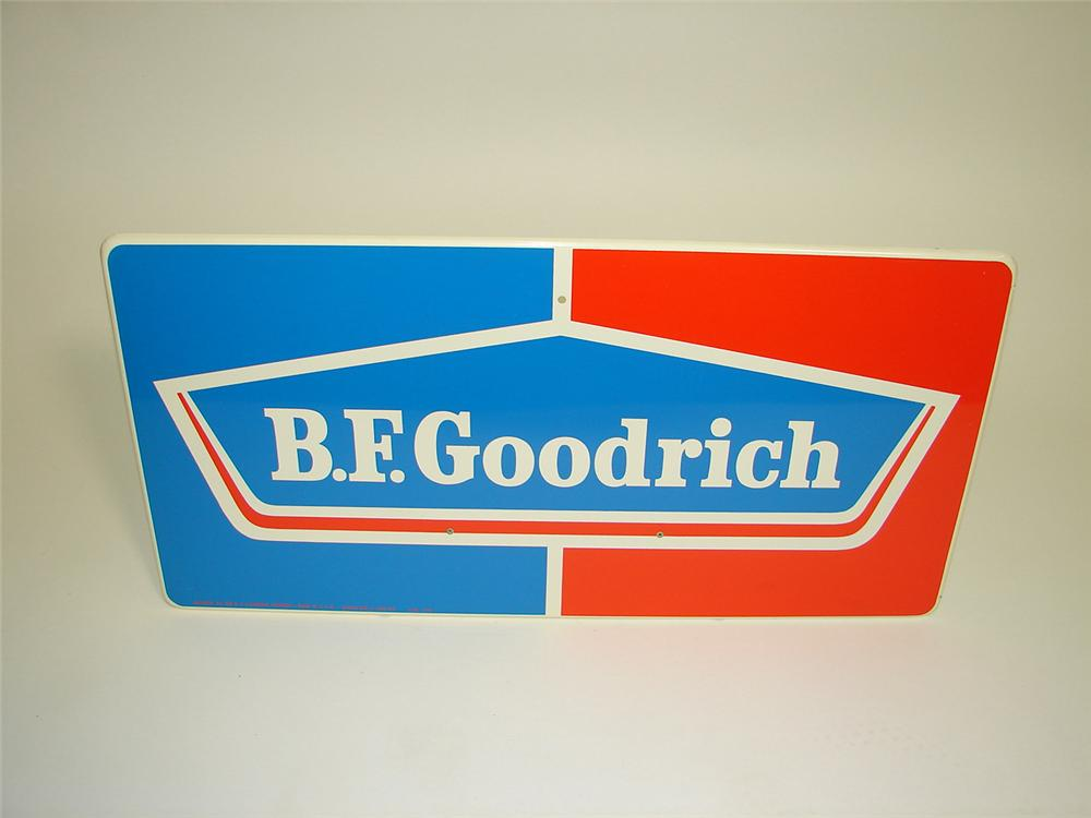 N.O.S. BF Goodrich horizontal tin garage sign. - Front 3/4 - 91500