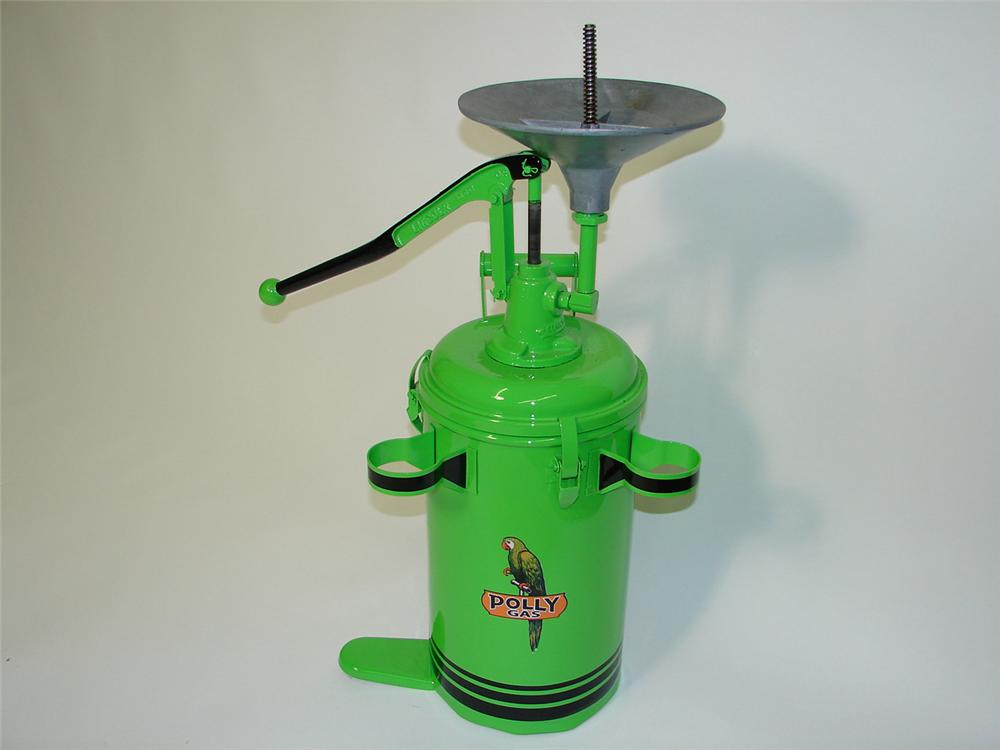 Terrific vintage 1930s Polly Wheel bearing grease packer by Alemite. - Front 3/4 - 91511