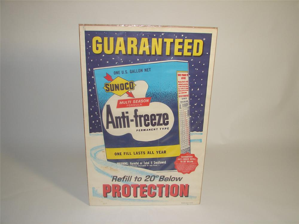 Early 1960s Sunoco Anti-Freeze service station poster. - Front 3/4 - 91532