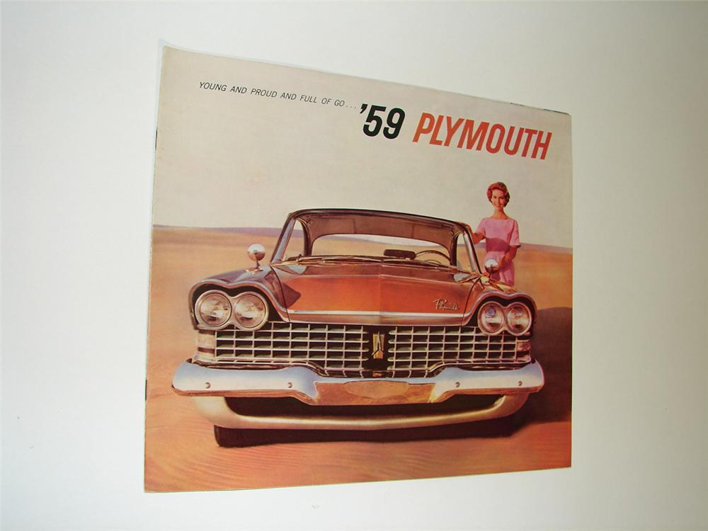 1959 Plymouth Automobiles over-sized prestige 20 page sales brochure. - Front 3/4 - 91545