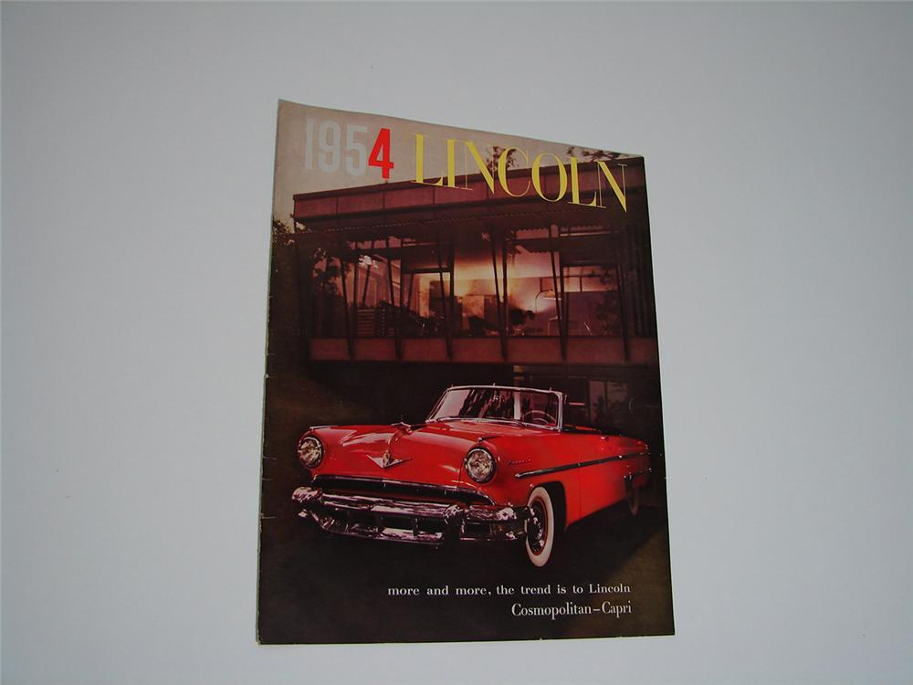 Stylish 1954 Lincoln Automobiles 20 page over-sized color sales brochure. - Front 3/4 - 91546