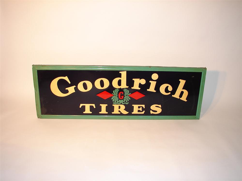 1940s Goodrich Tires self-framed tin garage sign. - Front 3/4 - 91589