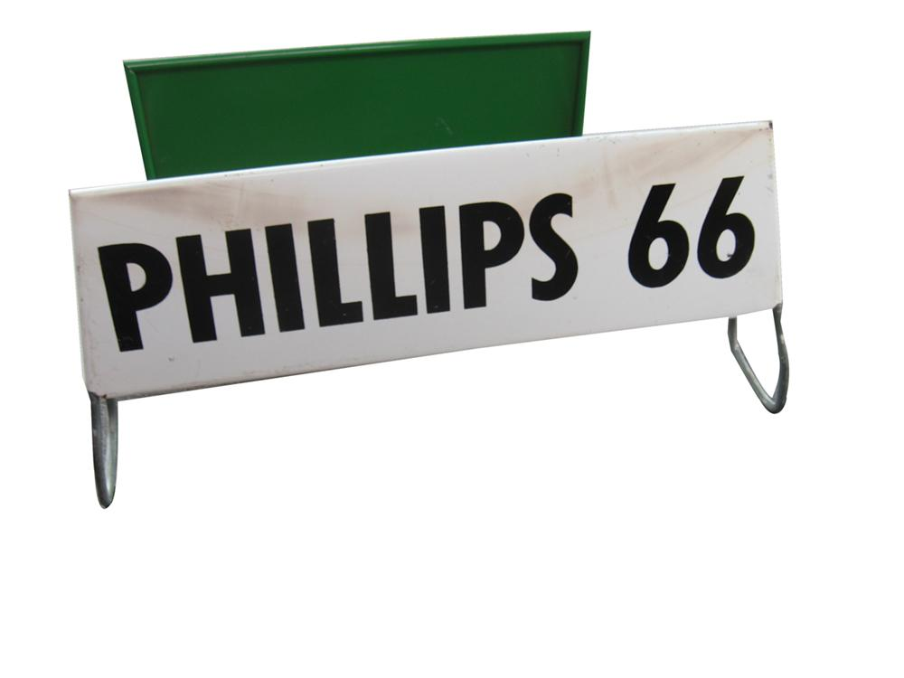 1960s Phillips 66 Gasoline service station metal tire display stand. - Front 3/4 - 91623
