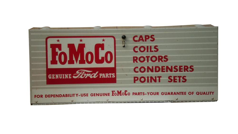 Fabulous 1958 Ford FoMoCo service department metal parts display cabinet. - Front 3/4 - 91635