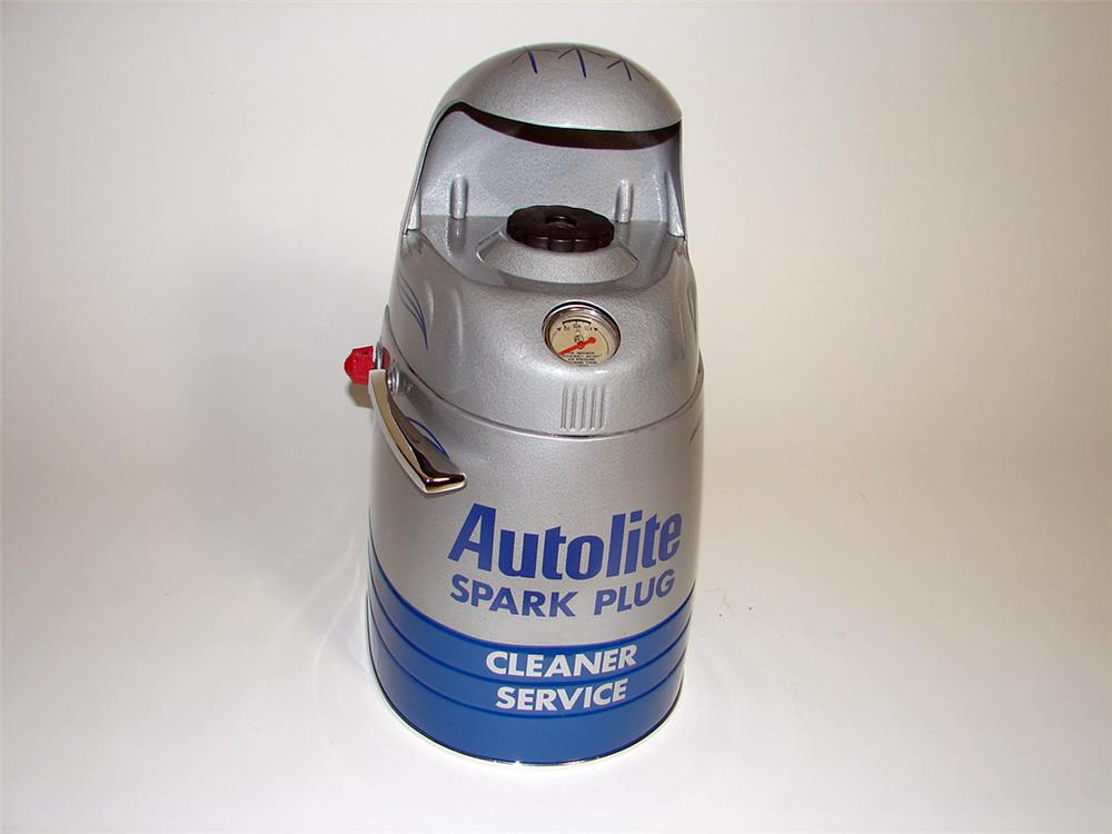 Fabulously restored 1940s-50s Ford Auto Lite Spark Plug counter-top cleaner-service machine. - Front 3/4 - 93765