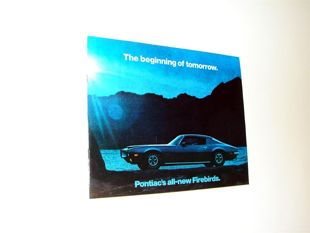 N.O.S. 1970 Pontiac Firebirds 20 page color sales brochure - Front 3/4 - 93780