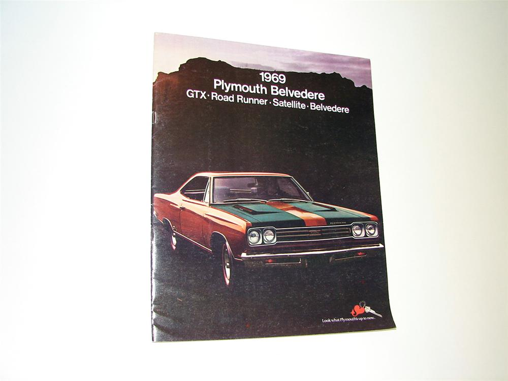 Choice 1969 N.O.S. Plymouth brochure for Belvedere - GTX - Road Runner and Satellite. - Front 3/4 - 93785