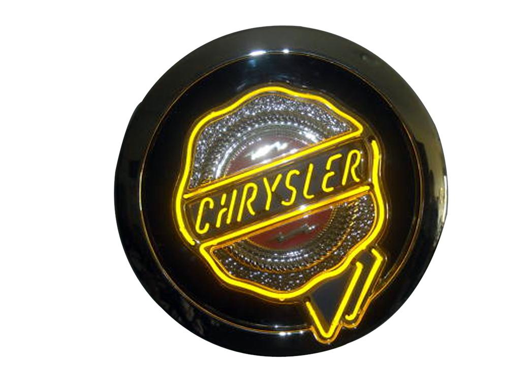 Newer Chrysler Automobiles single-sided neon showroom sign. - Front 3/4 - 93814