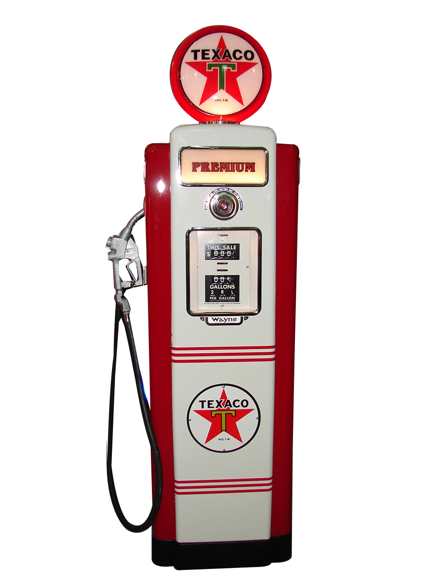 Exquisite late 1940s-early 1950s Mobil Gasoline Wayne model #70 restored service station pump. - Front 3/4 - 93843