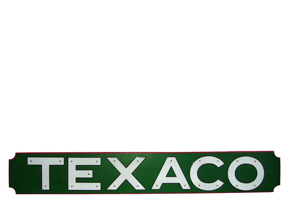 Impressive 1930s Texaco porcelain station letters mounted on a presentation board. - Front 3/4 - 93934