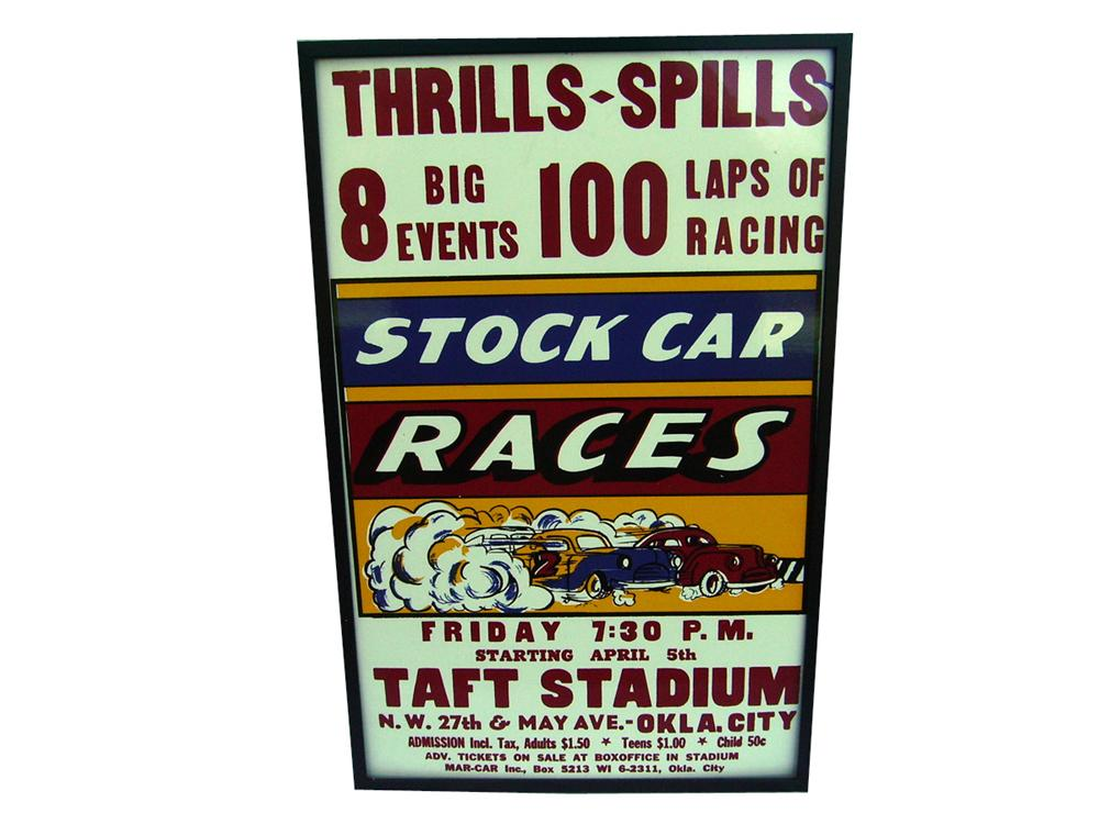 Nifty 1958 Taft Raceway Stock Car Races sign. - Front 3/4 - 93946