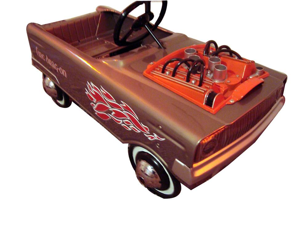 Ultra cool and rare 1960s Fire Drag-On restored pedal car. - Front 3/4 - 93963
