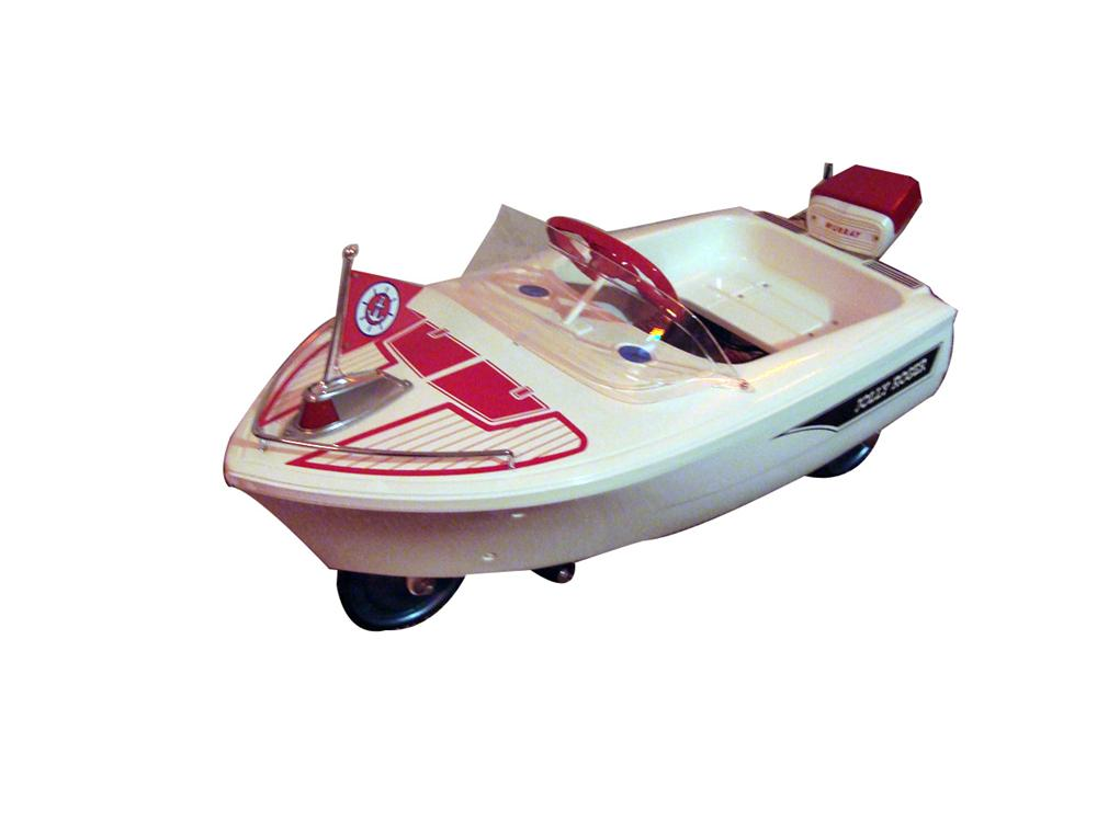 "1950s Murray ""Jolly Roger"" pedal car boat. - Front 3/4 - 93965"