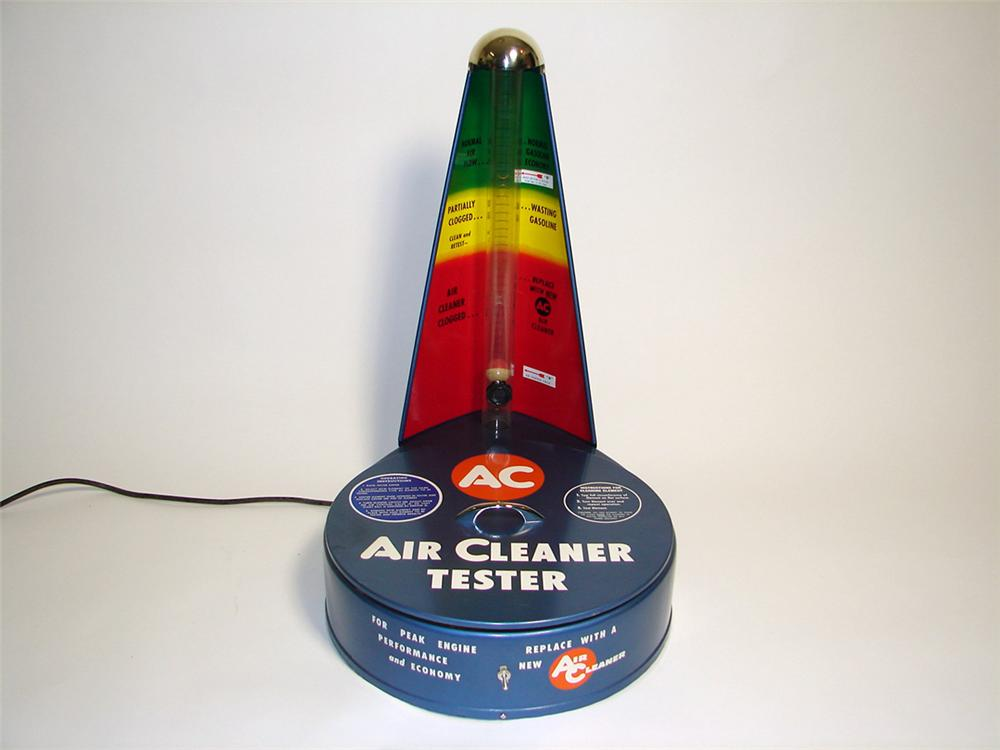 Amazing N.O.S. 1959 AC Air Cleaner-Tester found unused and still in the original box. - Front 3/4 - 97120