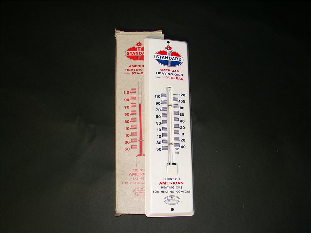 N.O.S. Standard Heating Oils service station thermometer still in the original box. - Front 3/4 - 97305