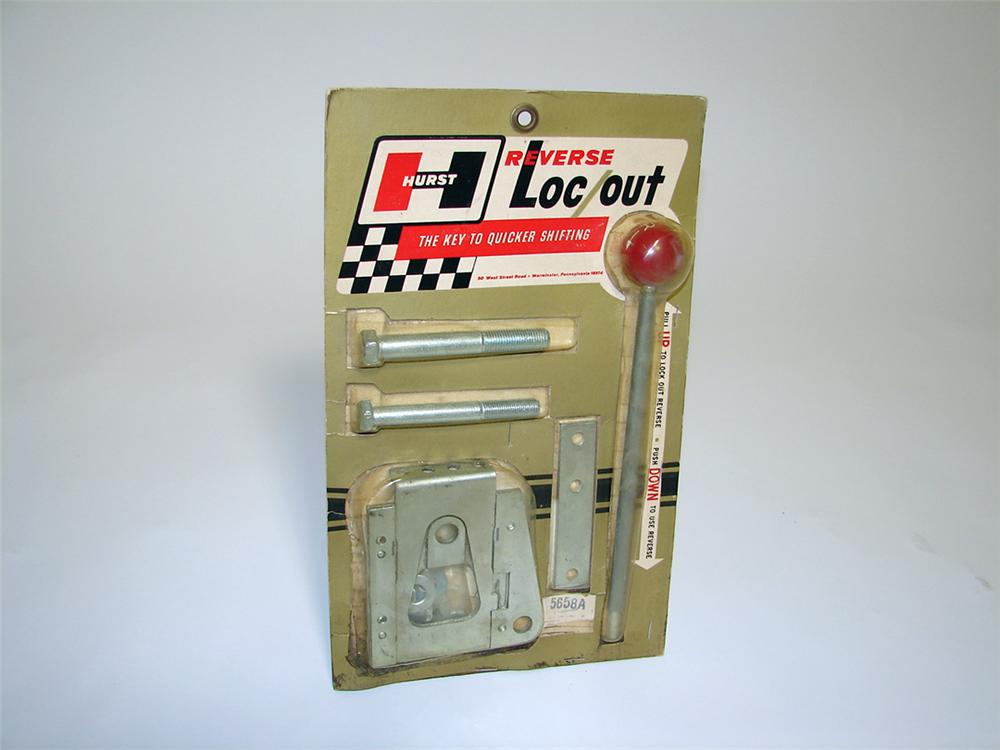 """Fabulous N.O.S. 1960s Hurst Shifters Reverse Loc/Out """"Quick Shifter"""" still in the original packaging. - Front 3/4 - 97458"""