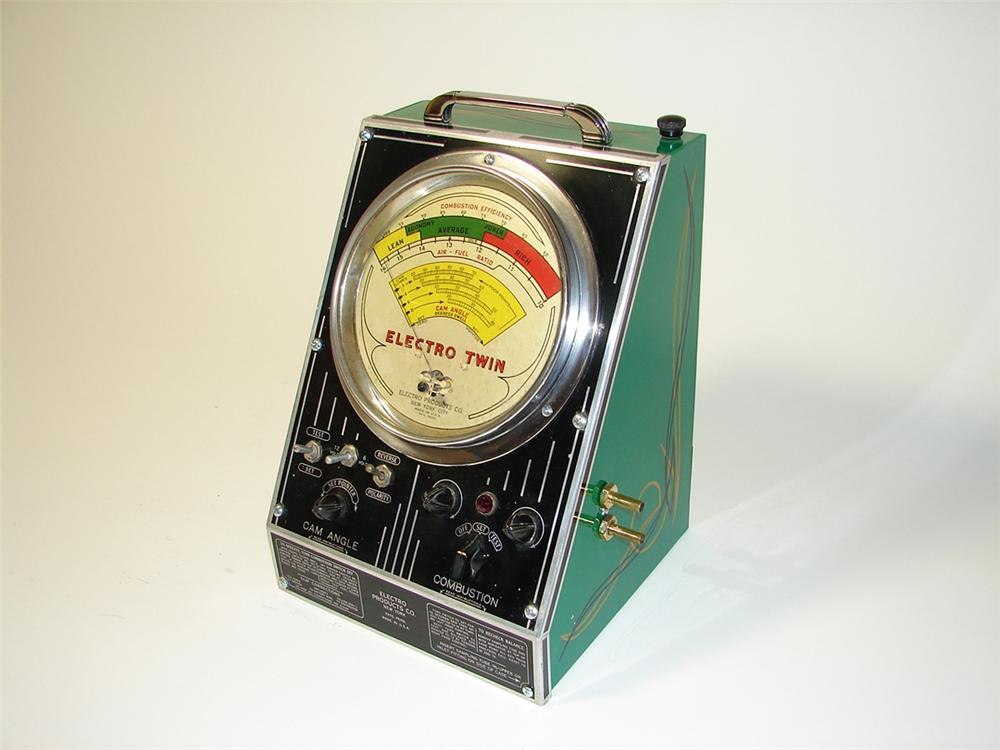 Interesting 1930s Electro Products restored service garage portable points-combustion tester. - Front 3/4 - 97587