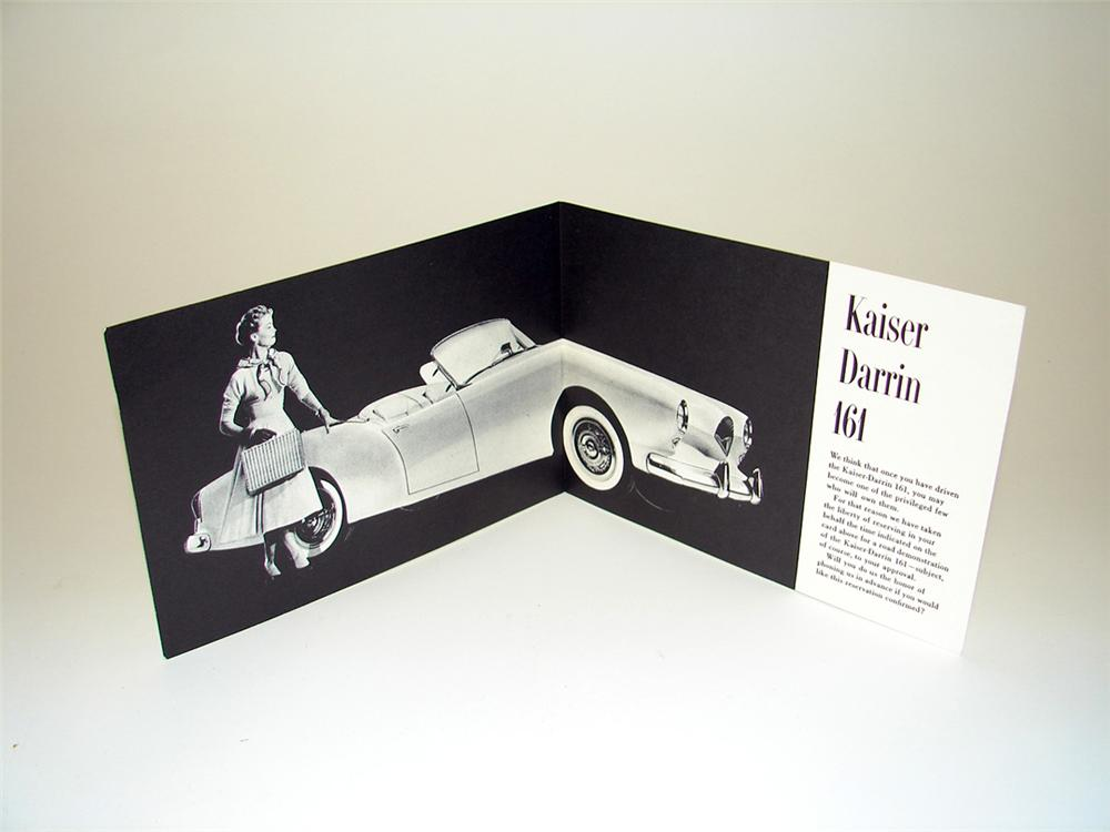 Extremely rare Kaiser Darrin 161 showroom sales brochure. - Front 3/4 - 97651