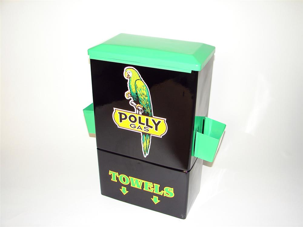 Choice 1940s-50s Polly Oil fuel island paper towel dispenser. - Front 3/4 - 97671