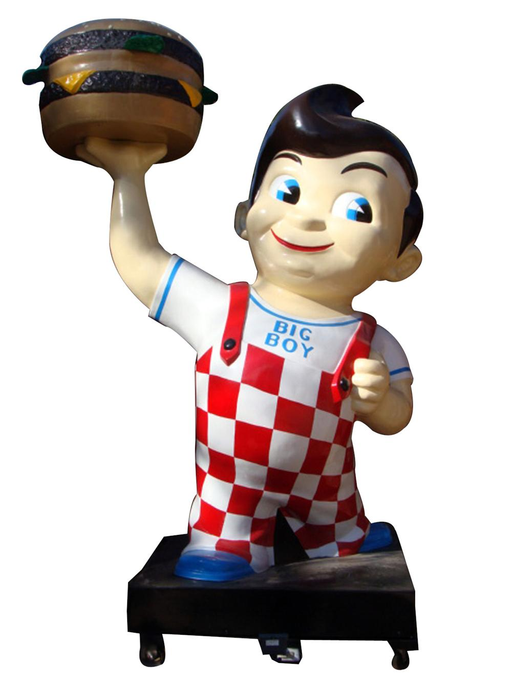 Iconic 1950s-60s Big Boy Restaurant three-dimensional restored drive-in sign. - Front 3/4 - 97760