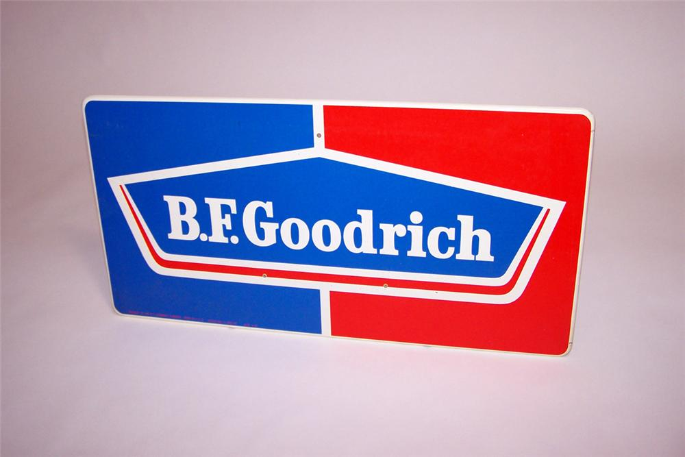 N.O.S. 1960s B.F. Goodrich Tires single-sided tin garage sign. - Front 3/4 - 97765