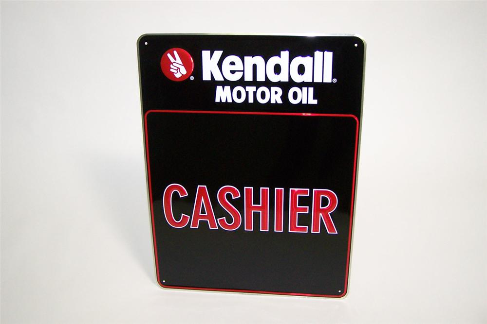 N o s kendall motor oil 39 cashier 39 single sided tin for Kendall motor oil distributors
