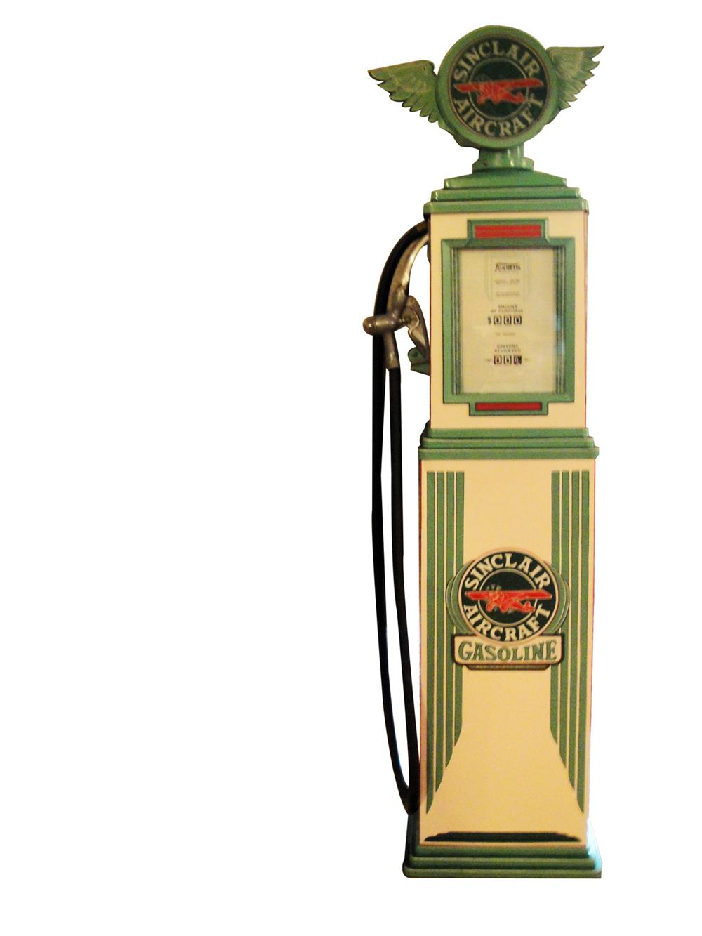 Extraordinary 1934 Sinclair Aviation Gasoline Tokheim model #34 restored gas pump. - Front 3/4 - 97774