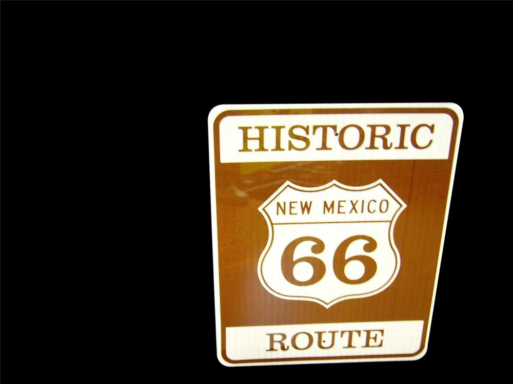 N.O.S. Historic Route 66 New Mexico single-sided road sign. - Front 3/4 - 97869