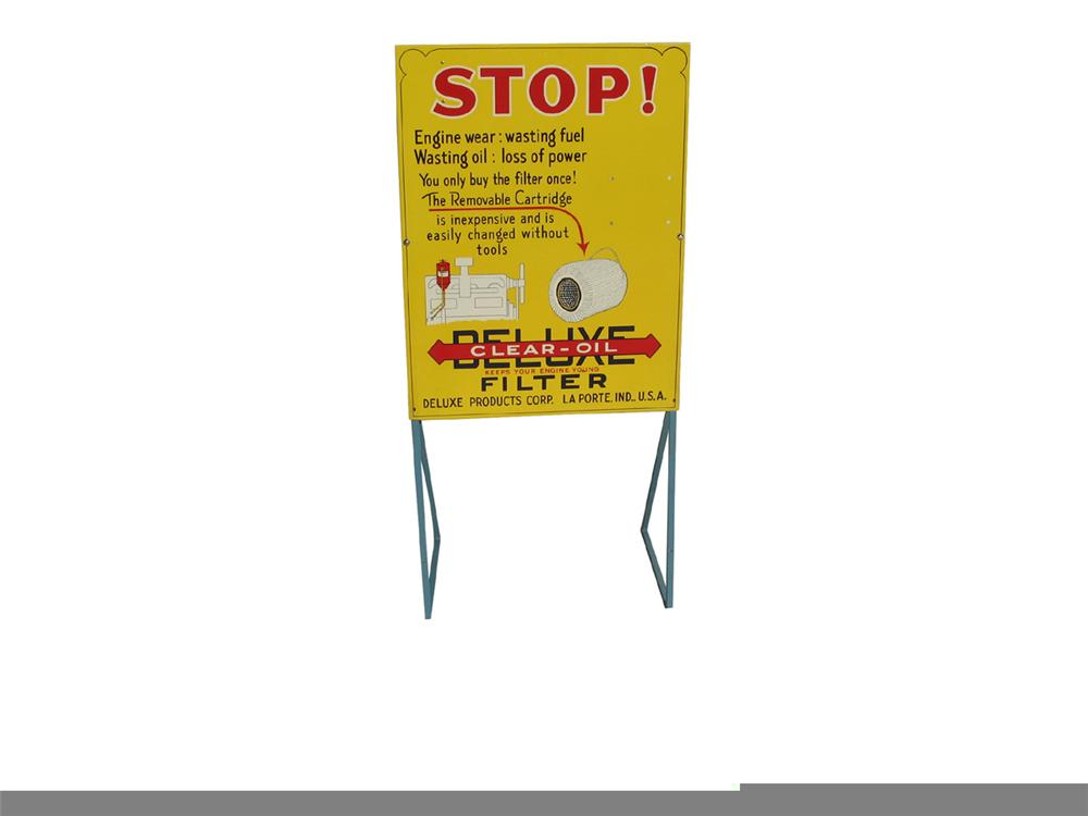 N.O.S. 1940s Deluxe Clear-Oil Filter service station display still in the original box. - Front 3/4 - 97919