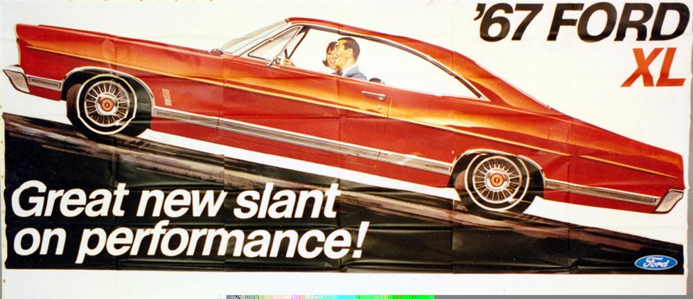 "Killer N.O.S. 1967 Ford XL ""Great New Slant Performance"" roadside billbaord sign. - Front 3/4 - 97924"