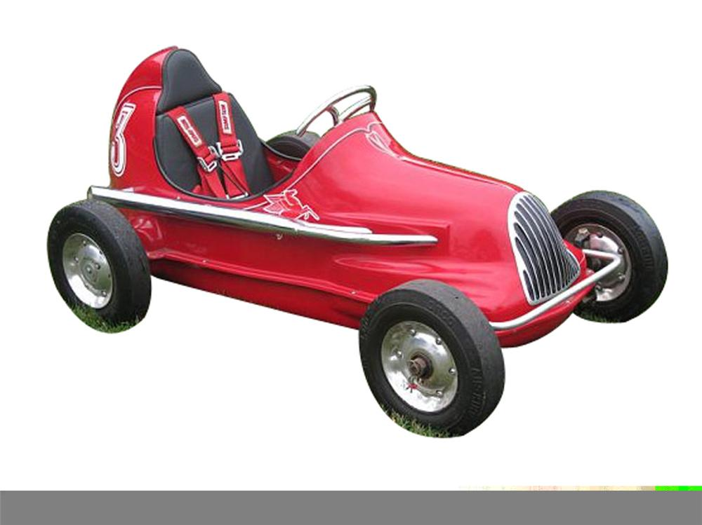 Original 1930s-40s electric powered childs sprint car. - Front 3/4 - 97936