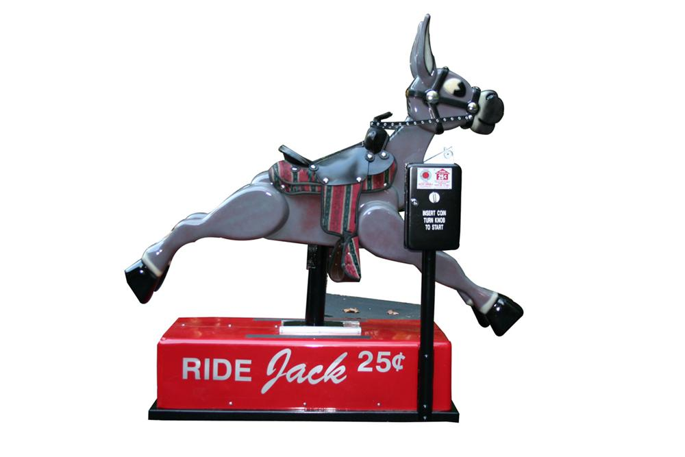 Charming Jack the Donkey restored coin-operated ride. - Front 3/4 - 97937