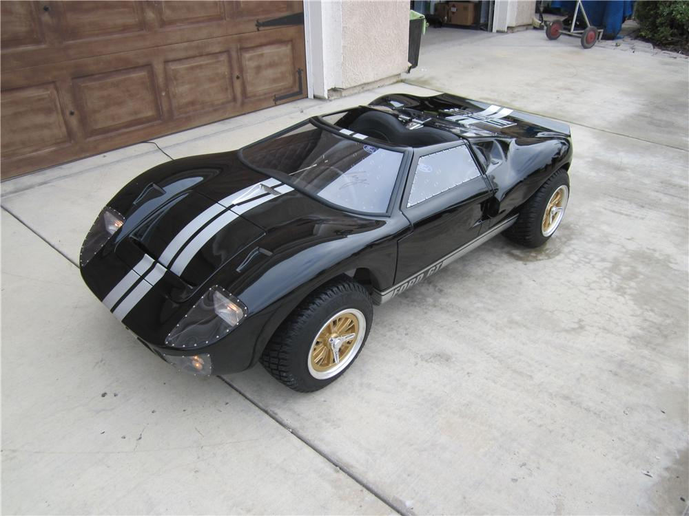 Super sleek, super custom 1/2 scale Ford GT 40 Go-Kart, expertly hand crafted by McLaren Classic Restorations - Rear 3/4 - 97944