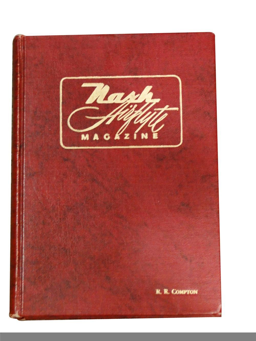 Nash Airflyte Magazine hard cover book compiled from three Nash magazines from 1949-1951. - Front 3/4 - 97948
