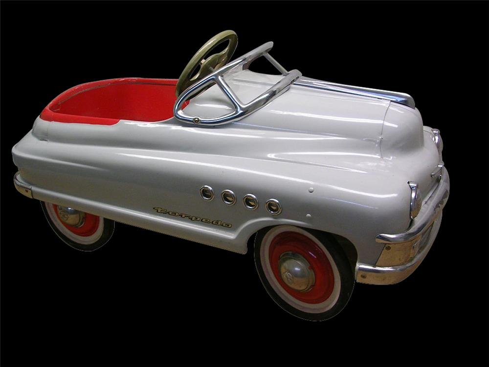 Sharp 1950 Murray Buick Torpedo pedal car found in all original condition - not restored. - Front 3/4 - 97959