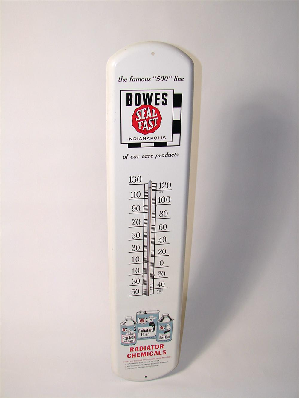 Killer N.O.S. 1950s Bowes Seal Fast Radiator Products over-sized garage thermometer. - Front 3/4 - 97978
