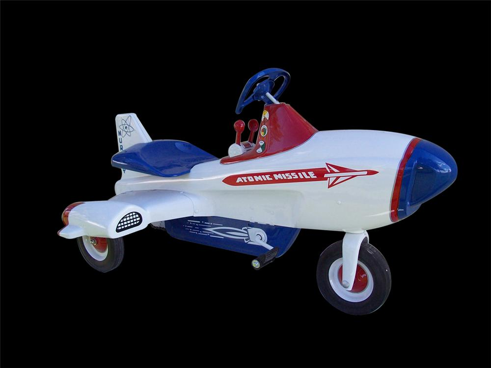 Stellar 1950s Atomic Missile by Murray airplane pedal car. - Front 3/4 - 97995