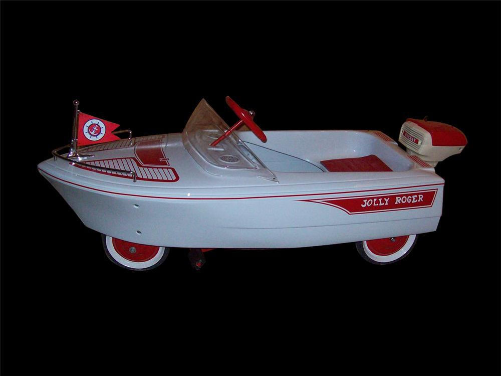 Hard to find 1950s Murray Speed Boat pedal car by Murray. - Front 3/4 - 97997