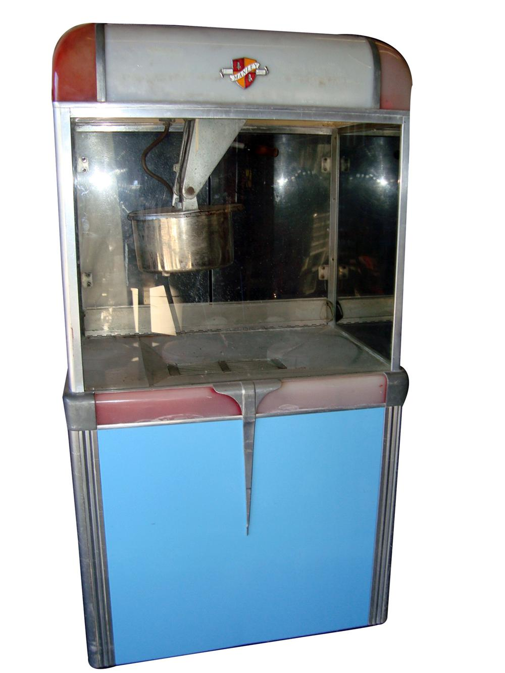 1940s-50s Manley Pop Corn Machine out of an Oklahoma dealership. - Front 3/4 - 98029