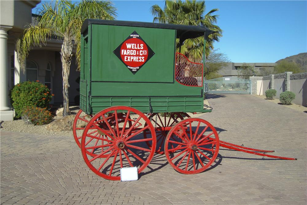 0 BUGGY WELLS -FARGO DELIVERY WAGON - Side Profile - 101433