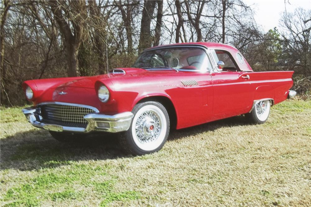 1957 FORD THUNDERBIRD CONVERTIBLE - Front 3/4 - 101594