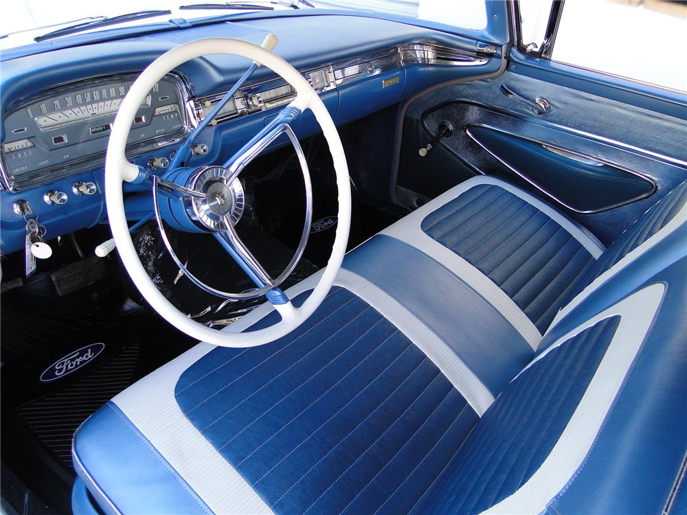 1959 FORD FAIRLANE 500 CONVERTIBLE - Interior - 101597
