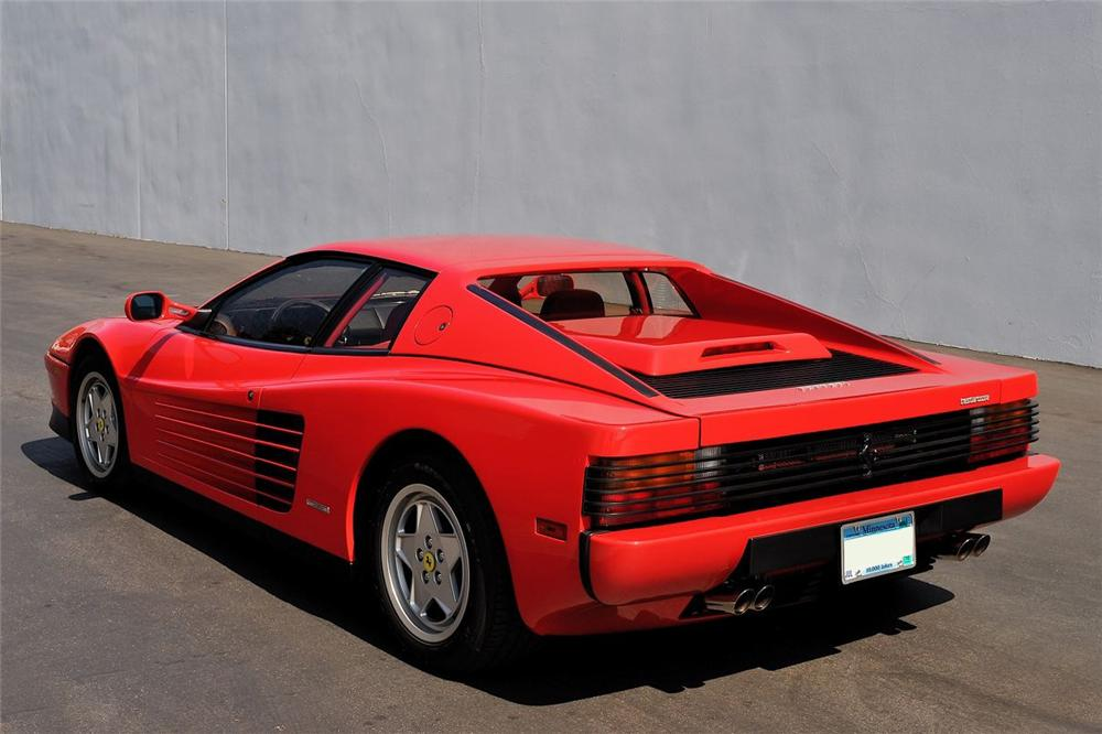 1991 FERRARI TESTAROSSA 2 DOOR COUPE - Rear 3/4 - 101607