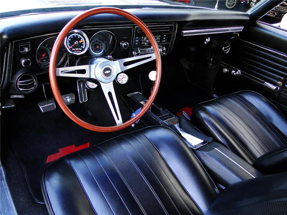 1969 CHEVROLET CHEVELLE SS 396 2 DOOR CUSTOM COUPE - Interior - 101608